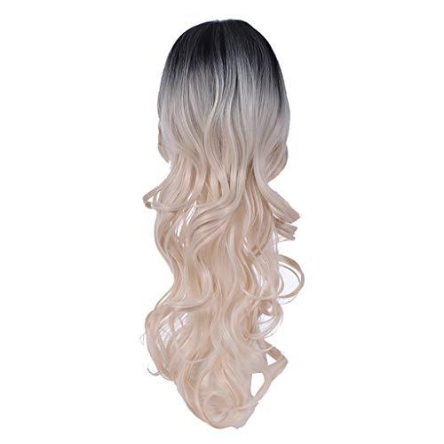 Natürliche Farben Gradient Perücke Langes lockiges Haar Synthetische Perücke Mode Kostüm Perücken