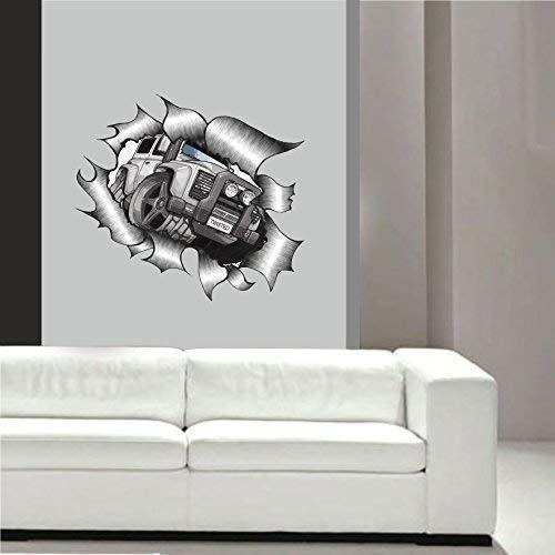 Koolart Fumetto Violento Strappato Metal Design Per Twisted Arte Della Parete Della Decalcomania Kids Room Laboratorio Etc. Grande 640x575mm Circa.