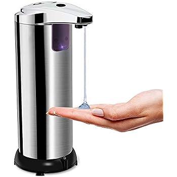 zociko Automatischer Seifenspender Seifenspender Automatisch Edelstahl Touchless Schaumseifenspender Infrared Sensor Seifenspender f/ür K/üchen und Badezimmer mit Wasserdichter Basis