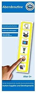 Autism Supplies And Developments-Rutina de Noche Visual de plástico (alemán), Color Amarillo (Autism and Developments DE_PM)