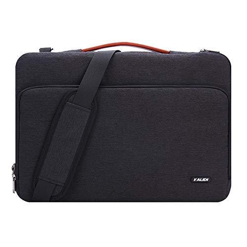 KALIDI 14 Zoll Laptoptasche Aktentaschen Handtasche Tragetasche Schulter Tasche Notebooktasche Laptop Sleeve Laptop hülle für bis zu 14.4 Zoll Laptop Dell Alienware/MacBook/Lenovo/HP (Schwarz#1)