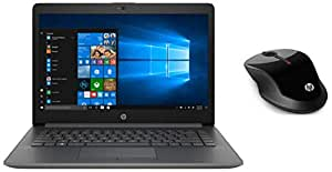 HP 14 Core i3 7th gen Thin & Light(4GB /1TB HDD/Win 10) 14q-cs0006TU & X3500 Wireless Mouse