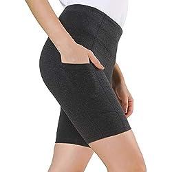 Ogeenier - Mallas Cortas Mujer Deportivas Pantalón Cortos Leggings para Fitness Yoga Pilates Gimnasio Running Training EláSticos Pantalones Cortos Deportivos de Mujer