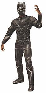 Disfraz de la pantera negra de Marvel Civil War, de la marca Rubie