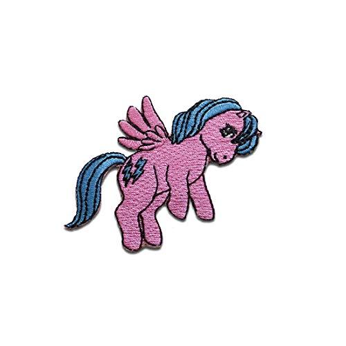Aufnäher/Bügelbild - fliegendes Pony My Little Pony - pink - 7,7 x 6,4 cm - Patch Aufbügler Applikationen zum aufbügeln Applikation Patches Flicken - Gesticktes Pony