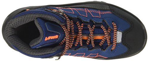 Lowa Unisex-Kinder Approach Gtx Mid Junior Wanderstiefel Blau (Blau/Orange)