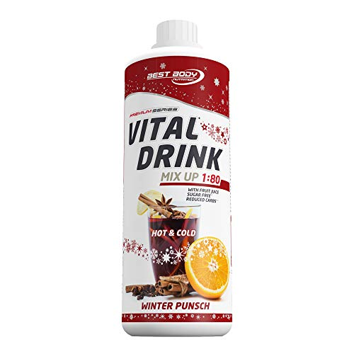 Best Body Nutrition Vital Drink Winter Punsch Limited Edition, Getränkekonzentrat, 1000 ml Flasche -