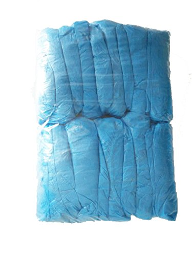 Mueen azul CPE zapatos desechables cubre fundas de botas 100 unidades 2,5 G por paquete
