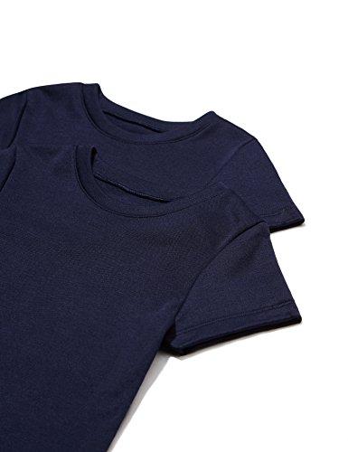 Fashion Red 12 (RED WAGON Mädchen T-Shirt 2er Pack, Blau (Navy), 152 (Herstellergröße: 12))