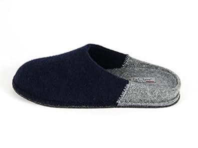 Pantofole da Uomo Invernali Bicolore Blu taglia 35