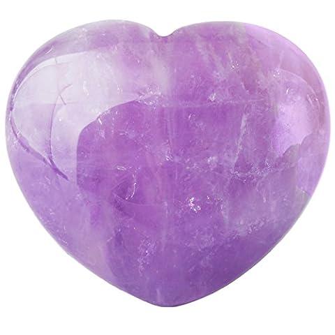 Shanxing Natural Amethyst Mini Crystal Puff Heart Healing Chakra Reiki