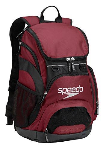 Speedo groß Teamster Rucksack, 35-Liter, Unisex, Maroon/Schwarz, 35-Liter