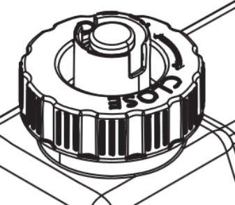 Ersatz-Tankdeckel, Farbe: Orange, mit Dichtung für OMC 400 / cassette 600 / Engine 68 / Engine 56 / ... (Opti-myst) von ewt auf Heizstrahler Onlineshop