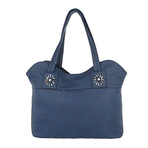 Taschen Handtasche Tragetasche Dunkelblau