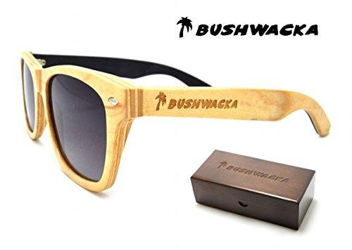 Nuevo Bushwacka Sun-Seeker Polarizado Laminado de madera hecho a mano Gafas de sol Gafas de sol de madera