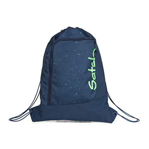 Satch Gym Bag Space Race Turnbeutel Fitness und Training Unisex Kinder Kinder Blue Green Speckled (Grün), One Size