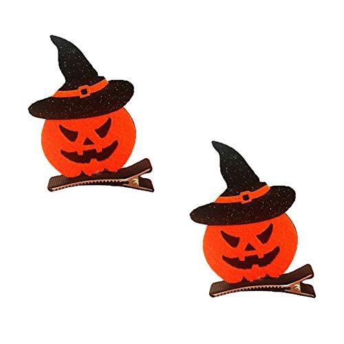 Leisial 2 pz pinze per capelli di halloween tridimensionale pipistrello zucca gatto nero ragazza accessori per capelli forcina