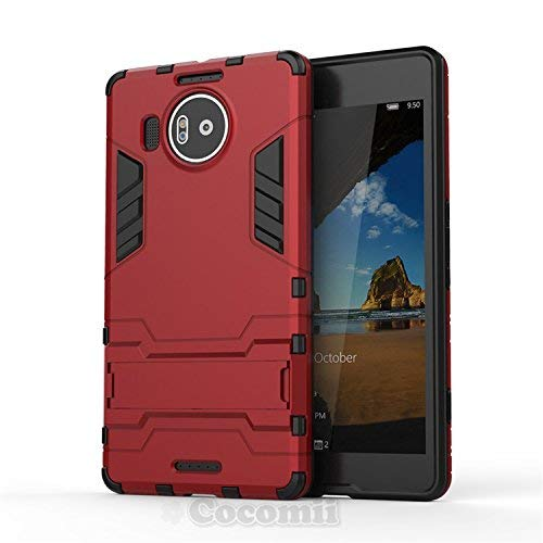 Cocomii Iron Man Armor Microsoft Lumia 950 XL Hülle [Strapazierfähig] Taktisch Griff Ständer Stoßfest Gehäuse [Militärisch Verteidiger] Case Schutzhülle for Microsoft Lumia 950 XL (I.Red)