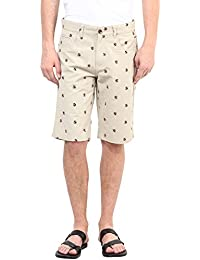 Upperclass Men Beige Cotton Casual Shorts (MSHO-15617_Beige)