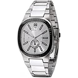Morellato Time Men's Quartz Watch with Silver Dial Analogue Display and Silver Stainless Steel Bracelet SZ6007