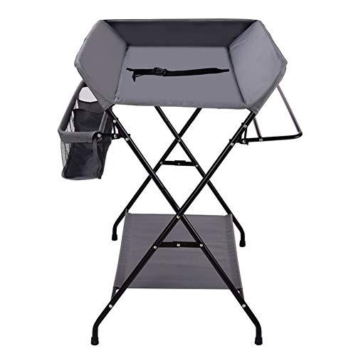 Tables à langer Table à langer pour bébé Station de rangement pour couches, rangements, unités de massage pliables, organisateur de pépinière, style de jambe croisée
