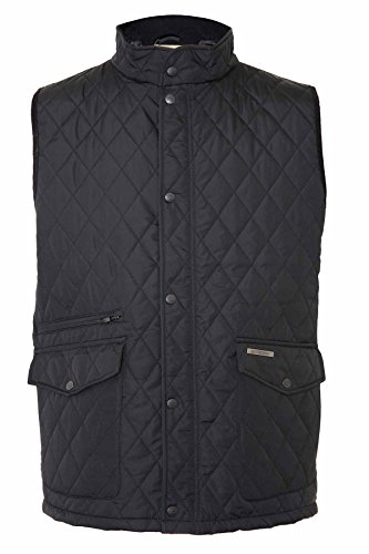 Champion Herren Steppjacke Weste, Einfarbig Black - Gainsborough