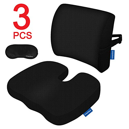Memory foam cuscini sedili e supporto lombare fornisce rilievo per dolore alla schiena inferiore sciatica coccyx cuscino ortopedico per sedile ufficio sedile per auto sedia a rotelle nero