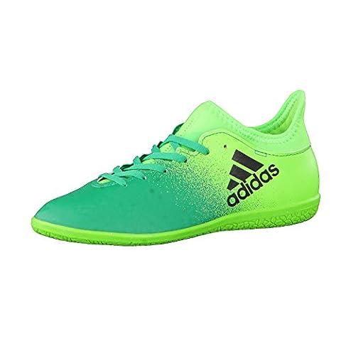 Adidas X 16.3 IN J Fußballschuhe für Kinder, Grün–(Versol/Negbas/Verbas) 32