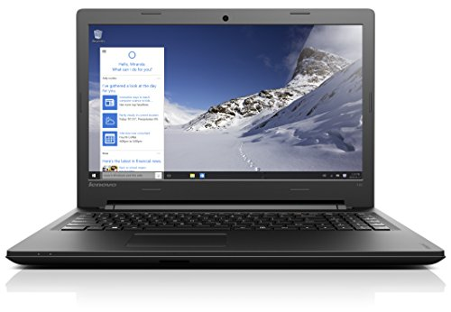 Lenovo Ideapad 100 39,6 cm (15,6 Zoll HD) Notebook (Intel Pentium N3540 Quad-Core Prozessor, 2,66GHz, 8GB RAM, 500GB HDD, Intel HD Grafik,DVD-Brenner, Windows 10) schwarz