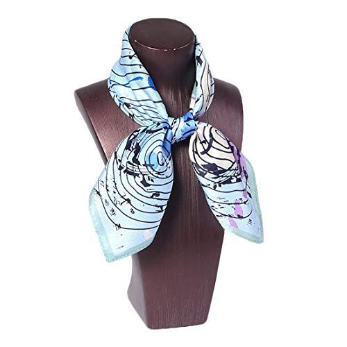 Yammucha Frauen Professional Seide Schal dekorative quadratische geometrische Druck Schals (Color : 4, Size : 52CMx52CM)