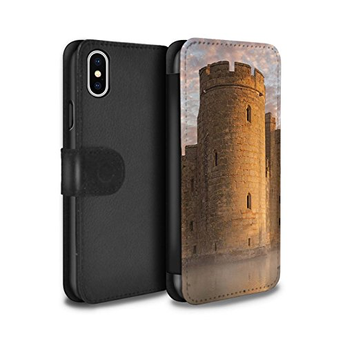 Stuff4 Coque/Etui/Housse Cuir PU Case/Cover pour Apple iPhone X/10 / Lac Design / Château Fort Collection Tour
