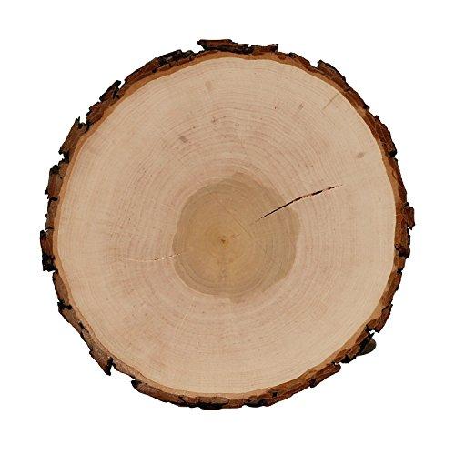 Riss Rindenbrett Esche rund - Rissbrett geschliffen Baumscheibe Rindenscheibe, Brettgröße:Ø ca. 14cm