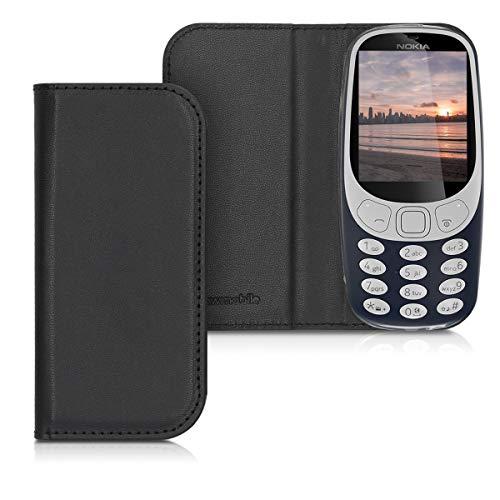 kwmobile nokia 3310 (2017) cover - custodia a libro in simil pelle pu per smartphone nokia 3310 (2017) - flip case protettiva