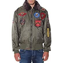Top Gun Chaqueta Bomber de Nailon Parche Cuello Piel 51669