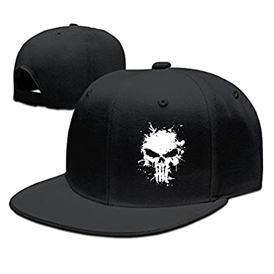 Hittings Punisher Skull Unisex Fashion Cool Adjustable Snapback Baseball Cap Hat One Size Black von Hittings bei Outdoor Shop