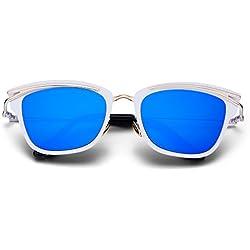 Menton Ezil Damen Sonnenbrille Gr. Medium, weiß