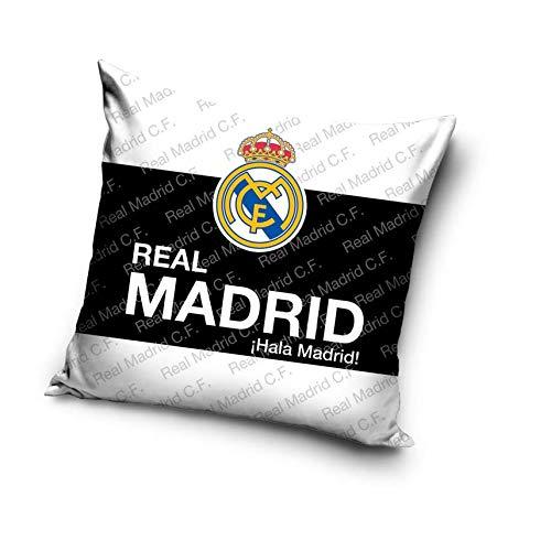Real Madrid Cojín con Relleno Almohada Funda de cojín FC Funda de Almohada 40cm x 40cm RM16...