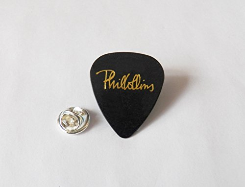 PHIL COLLINS Guitar pick plectrum PIN LAPEL TIE TACK PIN BADGE plain black