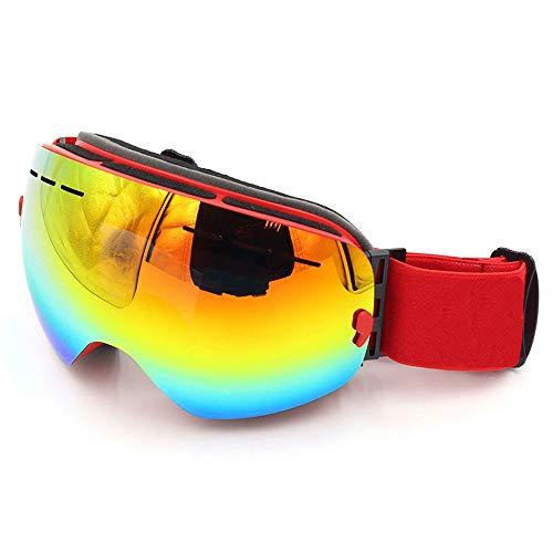 Skibrille Unisex Rahmenlose Sphärische Doppelschicht-Objektiv Anti-Strahlung Anti-Fog und Schnee-Beweis Sand-Karte Kann Für Kurzsichtigkeit Gläser Verwendet Werden,A