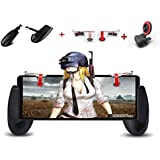 SEC Mobile Controller With Gaming Trigger, Gaming Grip And Gaming Joysticks For 4.5-6.5inch Android IOS Phone For Mobile Pubg/Knives Out/Rules Of Survival (Trigger+Grip+Joystick) [Upgrade Version]