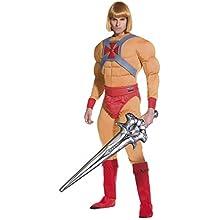 Smiffys Licenciado oficialmente Costume He Man/Prince Adam Muscle, Beige, avec combinaison-pantalon, ceinture, m