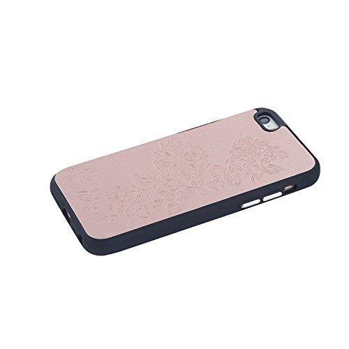 JIALUN-étui pour téléphone Boîtier en relief pour téléphone IPhone 5 et 5 et SE ( Color : Rose Gold ) Rose Gold