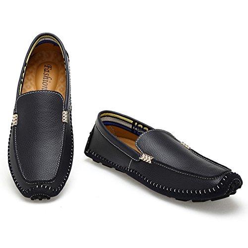 Espadrille homme mocassin conduit voiture nubuck basses chaussure bateau léger chukka shoes Noir