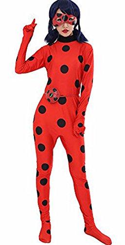 Cartoon Miraculous Ladybug Marienkäfer Hüfthalter mit Päckchen Party Cosplay Kostüm Kind und Erwachsener verfügbar Erwachsene Größe S