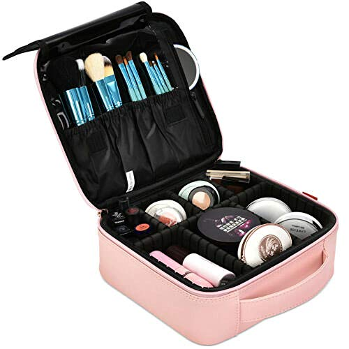 Romantic-Z Schminktasche Reise Kosmetiktasche Nylon Cute Makeup Case Organizer für Frauen/Mädchen-New_Rose_Gold