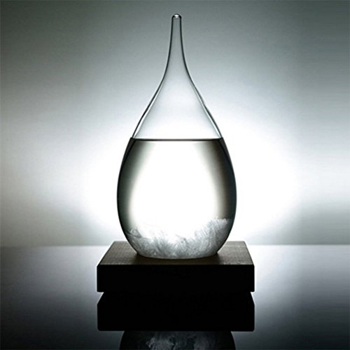 Creative Stylish Desktop Droplet storm Glass Crafts Weather Storm Forecast Predictor Bottle Barometer