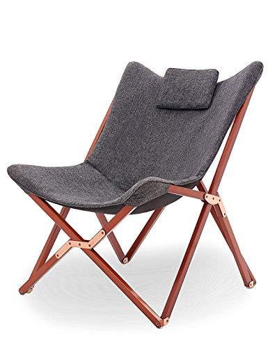 Suhu Klappstuhl Camping Stuhl Lounge Sessel Modern Design Retro Stühle Liegestuhl Klappbar...