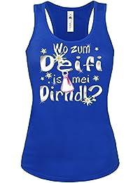 OKTOBERFEST WO ZUM DEIFI IS MEI DIRNDL ? Tank Top Damen S-XL