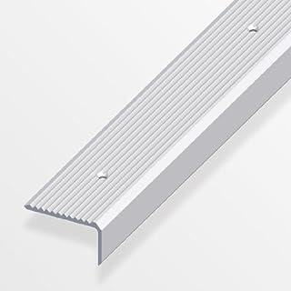 Treppenschienen breit, gerillt, gelocht 41/23mm silber eloxiert