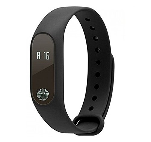 ECS Certified Smart Fitness Band With Heart Rate Sensor/Pedometer Sleep Monitoring Functions Compatible With Samsung Galaxy Nexus I9250- Black